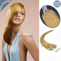 16-26 Inch Easy Loop Micro Rings Beads 100% Brazilian Remy Human Hair Extensions