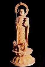 Japanese, Japan,Mizuko Jizo Bodhisattva, wooden statue Buddha 28.5cm