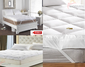 4 INCH SUPERSOFT THICK MICROFIBER MATTRESS TOPPER/MATRESS PROTECTERS ALL SIZES