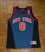 "New York Knicks #8 Sprewell Champion Jersey ""40"" Basketball NBA Shirt"
