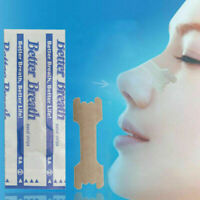 Nose Strips Pack Of 10 Relieve Congestion Snoring Relief Sleep T7U8 J2N6