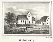 Grande Steinberg (parthenstein) - St. martins-iglesia-litografía 1844