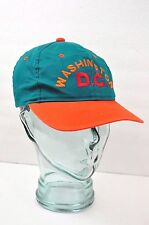 Washington DC Hat Green Orange Baseball Cap Adjustable Young Hat Co Snapback