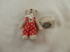 """Vintage Cottage Collectibles Terry Bear Miniature 3"""" signed by artist Lk #Cc7204"""