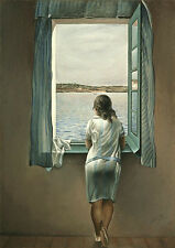 Salvador Dali Reflections Girl at a Window Fine Art Quality Canvas Print