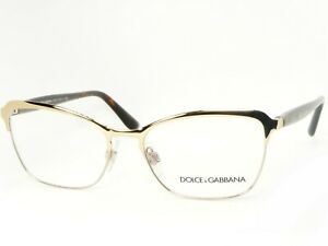 NEW D&G Dolce&Gabbana DG 1286 02 GOLD /SILVER EYEGLASSES GLASSES 53-16-140mm