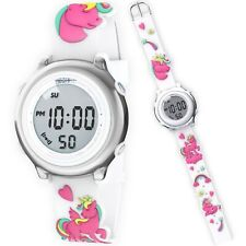 Unicorn Kids Digital Watch For Girl Cute 3D Silicone Strap Perfect Birthday Gift