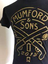 Mumford & Sons 2013 Graphic T Shirt Black Gold Graphic Small Folk Rock