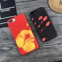 Heat Sensitive Color Change Magic Back Case Cover For iPhone 6s 7 Samsung S8Plus