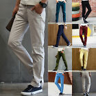 New Fashion Men's Skinny Pencil Long Pants Slim Fit Casual Straight-Leg Trousers