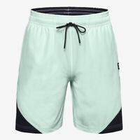 Under Armour HeatGear Mens Futures Woven Mint Green Basketball Training Shorts L