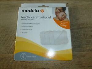 Medela Tender Care Hydrogel Soothing Gel Pads Breastfeeding 4 Sterile PadsNew FS