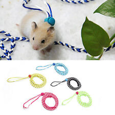1x Adjustable Ferret Hamster Harness Pet Mouse Baby Rabbit Squirrel Walking Rope