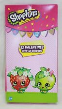 Shopkins 32 Count Valentine Day Classroom Exchange Cards with Stickers