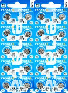 25 PC  Renata 399 Watch Batteries SR927W FREE SHIP 0% MERCURY