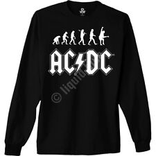 AC DC-ROCK EVOLUTION-HELLS BELLS-ANGUS-LONG SLEEVE BLACK SHIRT sz 4X