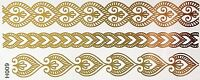 Tattoo Gold Einmal Flash Klebe Temporary 8teile Armband Hals Kette Fuß Body H9