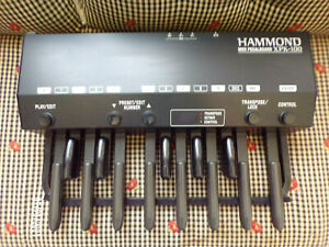 Hammond XPK-100 Midi Pedal Board Bass Pedals 13-Note with Power Adapter