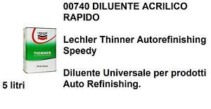 Diluente LECHLER 00740 Universale per prodotti Auto Refinishing rapido 5 litri