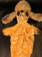 Vtg Kamar Tan Poodle Mohair Puppet Japan Puppy Dog