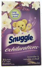 Snuggle Lavender & Vanilla Orchid Fabric Softener Dryer Sheets 70ct