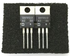 Lot of 2 NEW Harris IRF9510 3.0 Amp 3.0A 100 Volt P Channel Power Mosfets