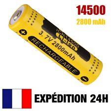 14500 > PILE BATTERIE RECHARGEABLE 2800 mAh LI-ION 3,7 V POUR LAMPE TORCHE...