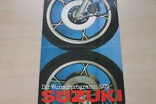 166496) Suzuki - Modellprogramm - Prospekt 1979