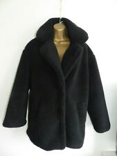Teddy Coat Faux Fur La Redoute collections size 14 with Pockets and Press Studs