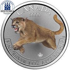 Kanada 5 Dollar Silbermünze 2016 bfr Predator Serie Puma 1 oz Silber in Farbe