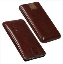 Für HTC Sensation XE Handy ECHT LEDER Tasche / Case / Etui / Hülle Braun NEU
