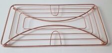 LARGE COPPER ROSE GOLD KITCHEN WORKTOP DOUBLE PAN TRIVET STAND SURFACE PROTECTOR