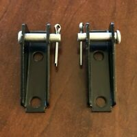 2 PACK - Todco Style Roll-up Door Box Cable Anchor Bracket Clevis Pin Kit -BLACK