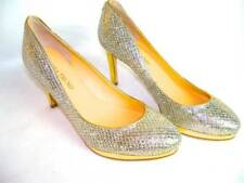NEW Ivanka Trump 6 M Womens Gold and Silver Glitter Platforms Heels Pumps Shoes