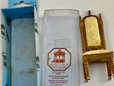 Town Square Miniatures Doll House Chair New in Box Gold Fabric T6753     Loc 15