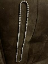 Simulated Diamonds Flawless Steel Chain Top Quality 115 Carat Vvs
