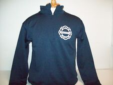 Chicago Fire Department Mens Performance Tech 1/4 Zip Navy Pullover