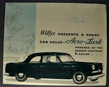 1952 Willys Aero Lark Sales Brochure Folder Nice Original 52