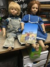 American Heartland Toni & Timi vinyl dolls by Annette Himstedt 1987