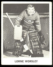 1965 COCA-COLA COKE GUMP LORNE WORSLEY EX COND MONTREAL CANADIENS HOCKEY CARD