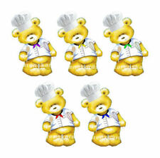 Chef Cook Bear Embellishments Toppers Card Making Craft Embellishments