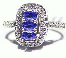 2.93CT 14K Gold Natural Tanzanite Diamond Vintage AAA Art Deco Engagement Ring