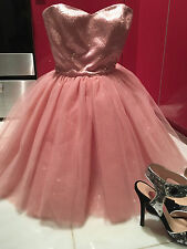 Vtg Sz 0 Betsey Johnson Tutu Dress Pink Tulle /Sequins Prom Party