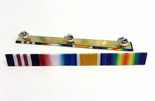 WW1 Medal Ribbon Bar,Military Medal ,1914 Star,British War Medal & Victory F/S