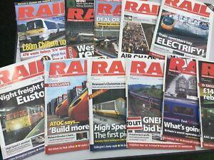 RAIL MAGAZINES - 11 ISSUES - 2005 - 2006 - 2007