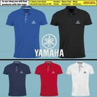 Yamaha Slim Fit Polo T Shirt EMBROIDERED Logo Tee Moto Sport Mens Motorcycle