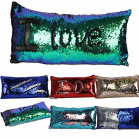 Magic Sequin Pillow Case Fancy Mermaids Two Tone Glitter Sequins Throw Pillows