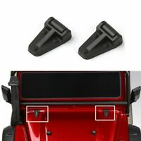 2pcs Black Engine Cover Hinge Parts For Traxxas TRX-4 TRX4 1:10 Scale RC Crawler