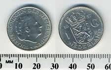 Netherlands 1957 - 1 Gulden Silver Coin - Queen Juliana - #1