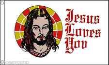 Jesus Loves You 5ft x 3ft (90cm x 150cm) Flag Banner